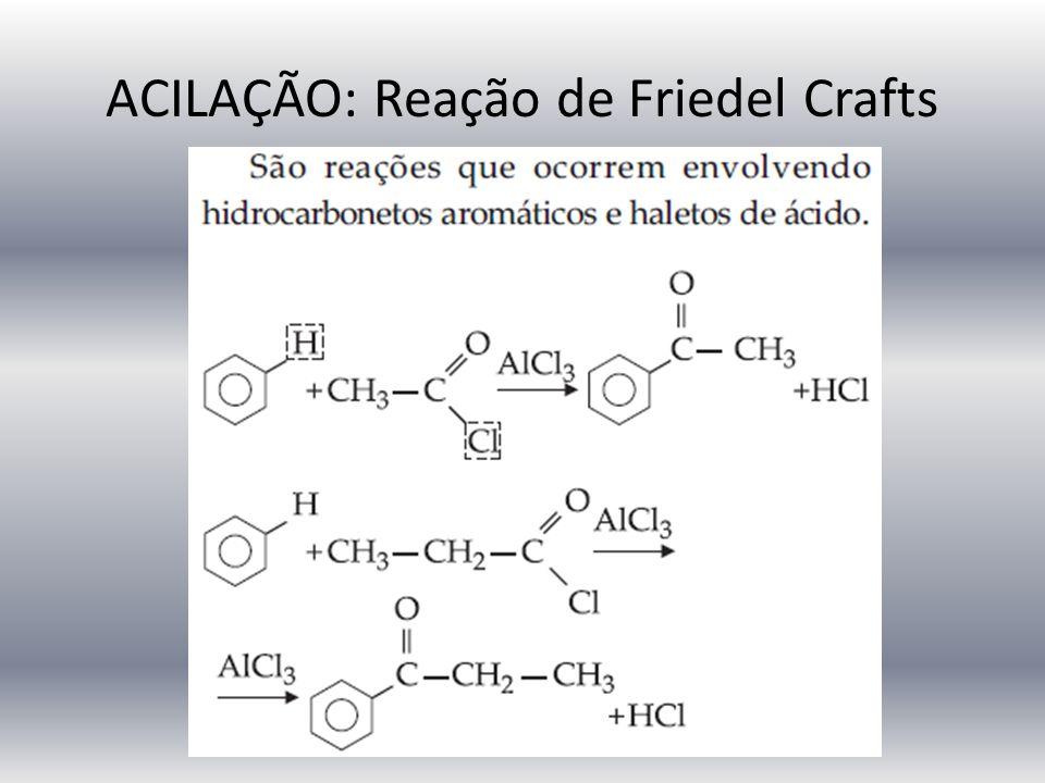 ACILAÇÃO: Reação de Friedel Crafts