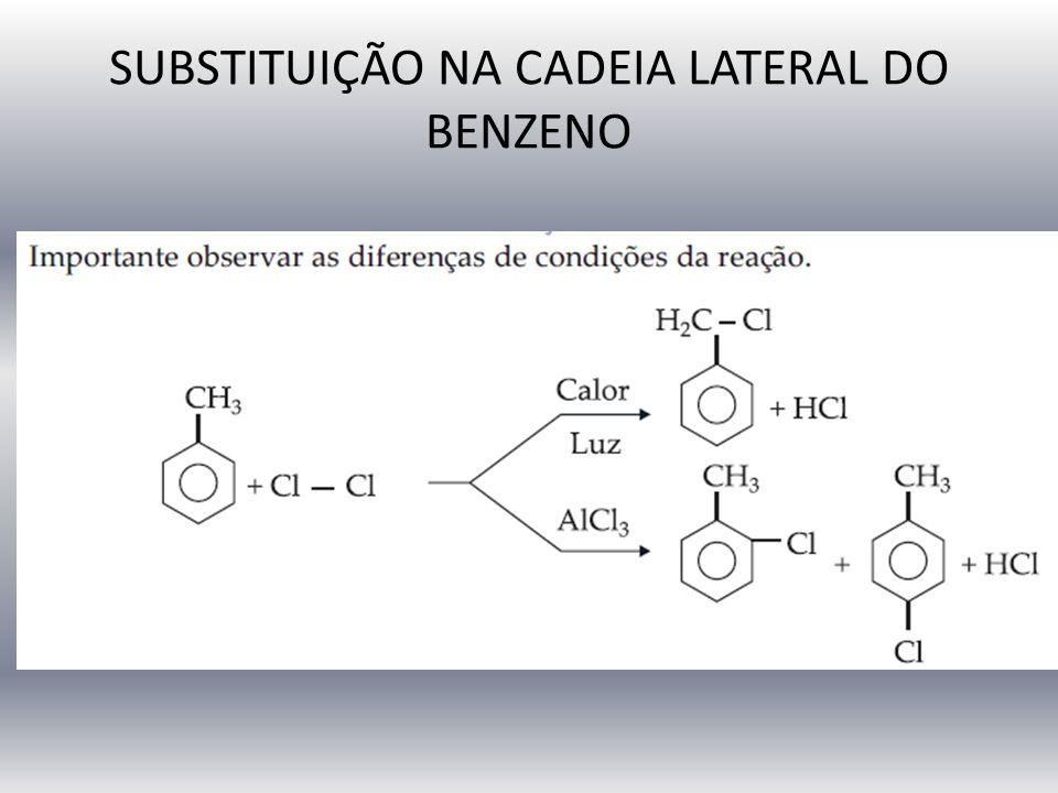 SUBSTITUIÇÃO NA CADEIA LATERAL DO BENZENO
