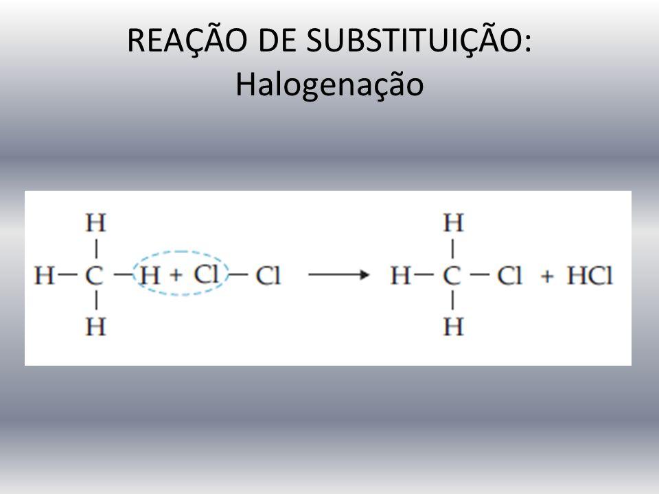 REAÇÃO DE SUBSTITUIÇÃO: Halogenação