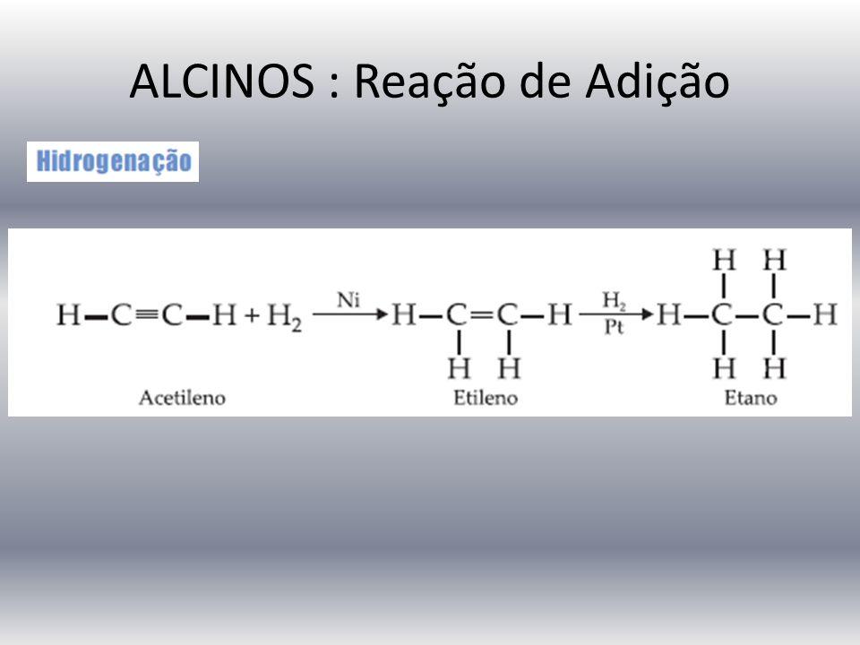 ALCINOS : Reação de Adição