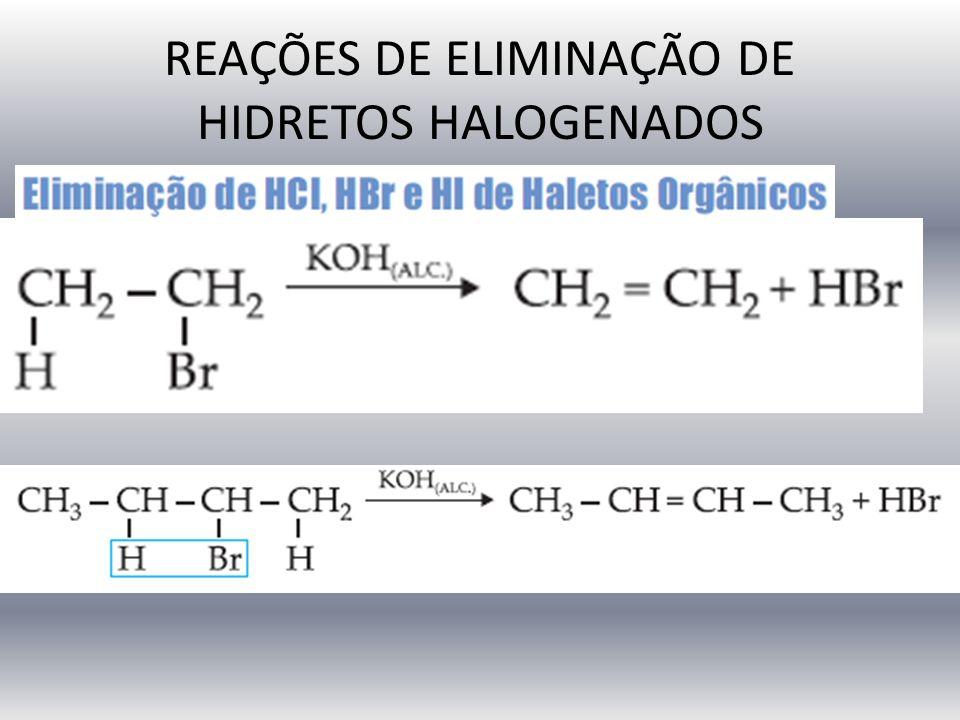 REAÇÕES DE ELIMINAÇÃO DE HIDRETOS HALOGENADOS