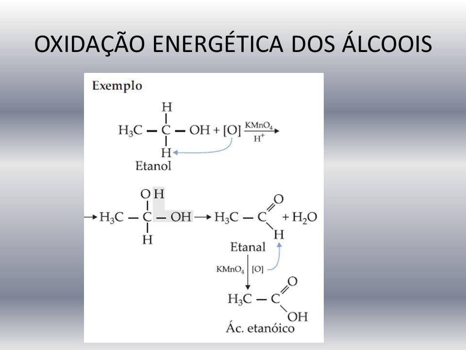 OXIDAÇÃO ENERGÉTICA DOS ÁLCOOIS