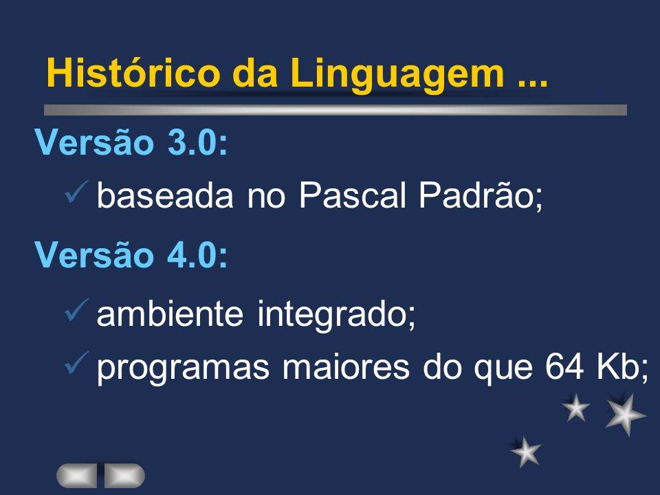 Histórico da Linguagem ...