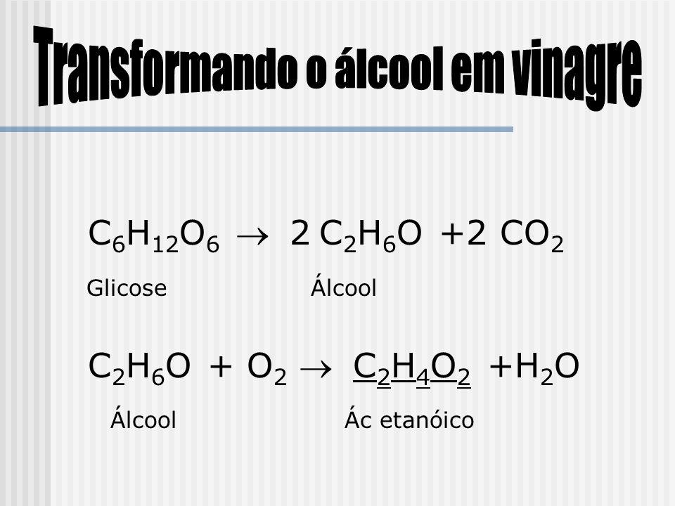 Transformando o álcool em vinagre