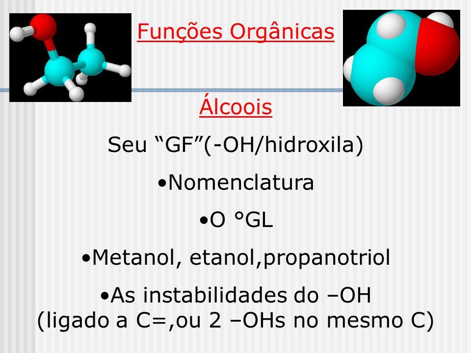 Seu GF (-OH/hidroxila) Nomenclatura O °GL