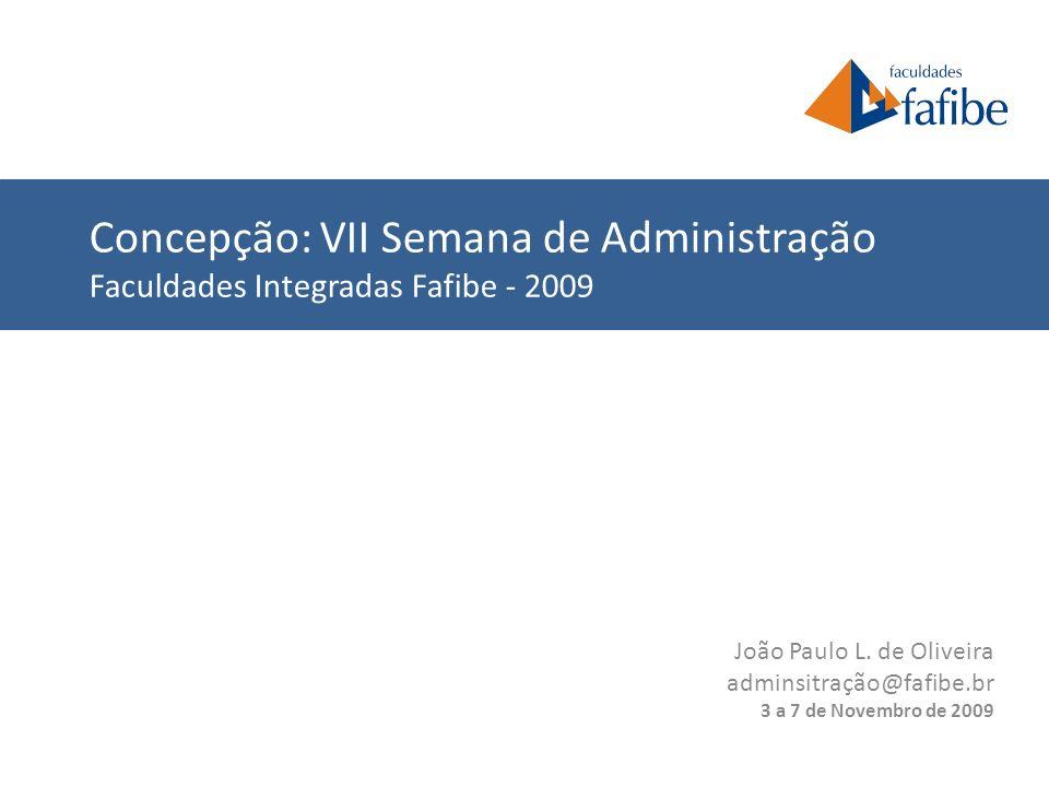 Concepção: VII Semana de Administração Faculdades Integradas Fafibe - 2009