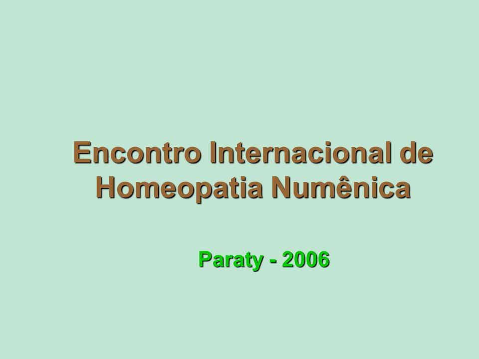 Encontro Internacional de Homeopatia Numênica