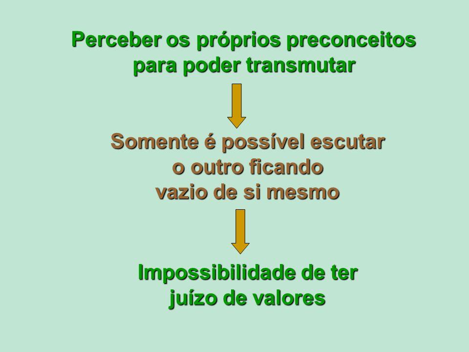 Perceber os próprios preconceitos para poder transmutar