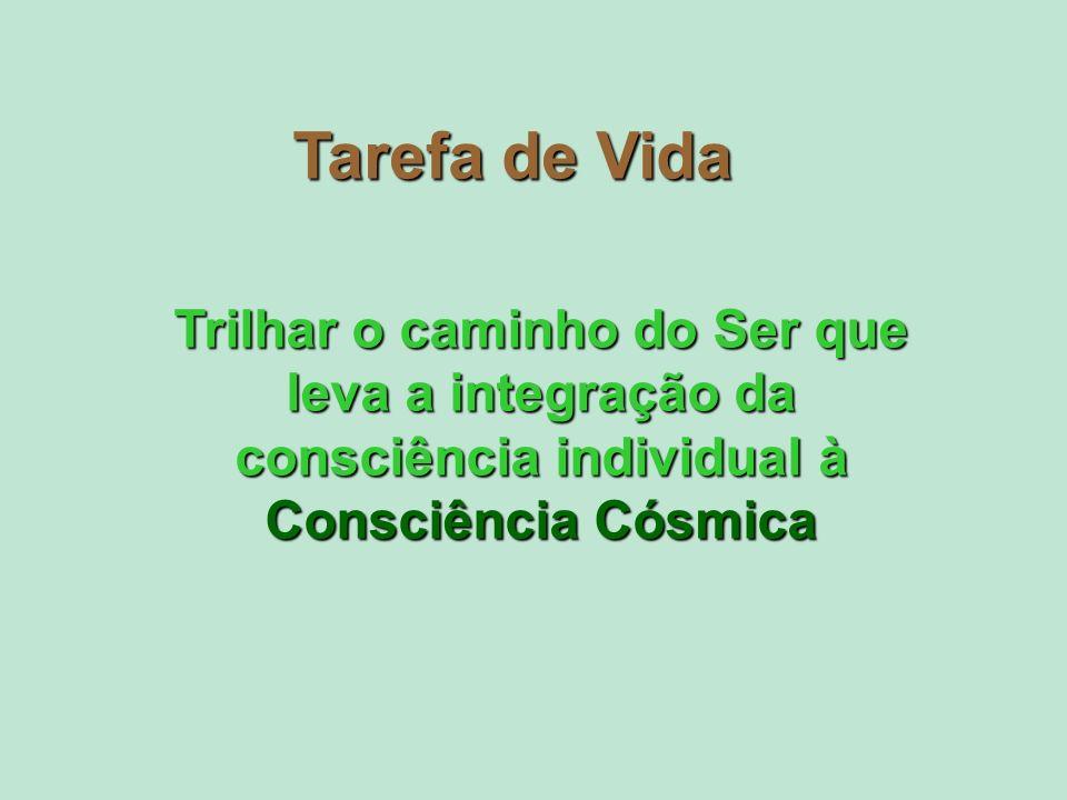 Tarefa de Vida Trilhar o caminho do Ser que leva a integração da consciência individual à Consciência Cósmica.