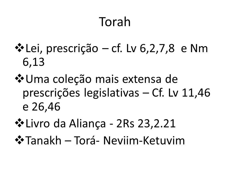 Torah Lei, prescrição – cf. Lv 6,2,7,8 e Nm 6,13
