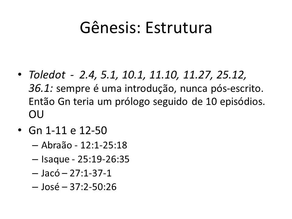 Gênesis: Estrutura