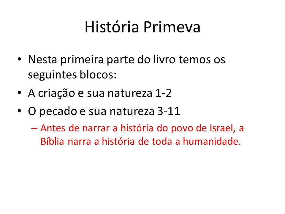 História PrimevaNesta primeira parte do livro temos os seguintes blocos: A criação e sua natureza 1-2.