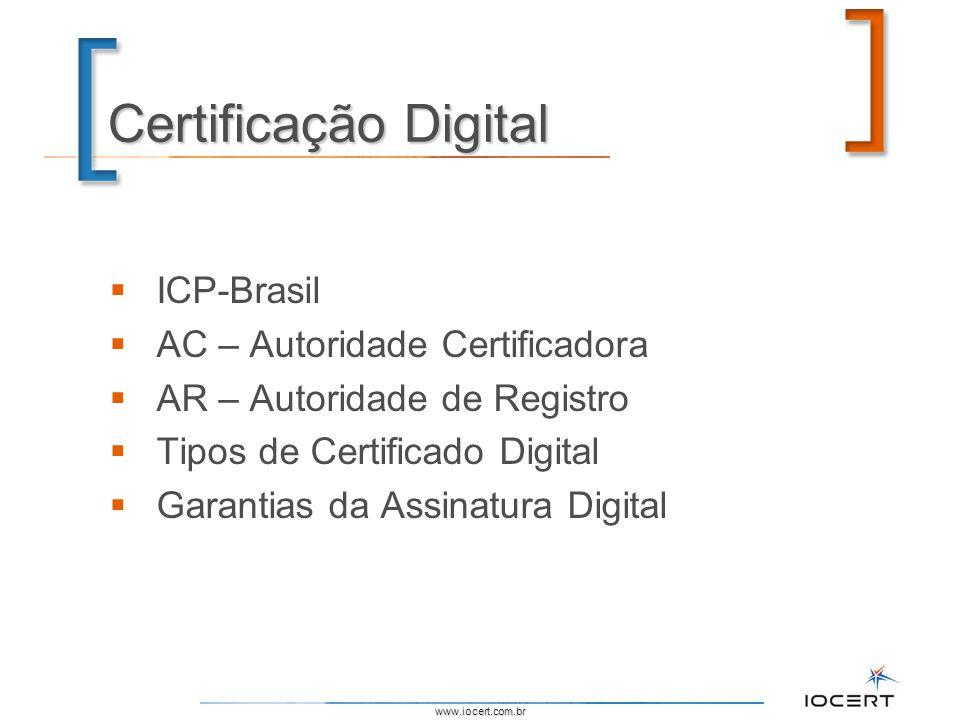 Certificação Digital ICP-Brasil AC – Autoridade Certificadora
