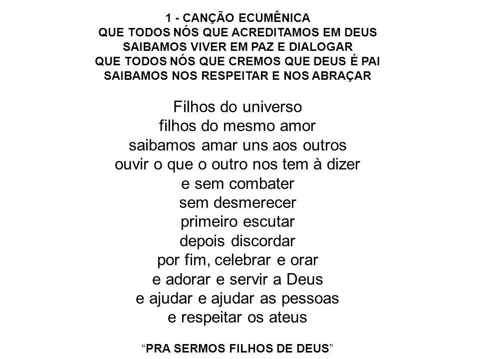 PRA SERMOS FILHOS DE DEUS