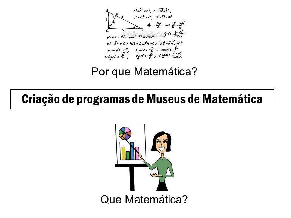 Criação de programas de Museus de Matemática