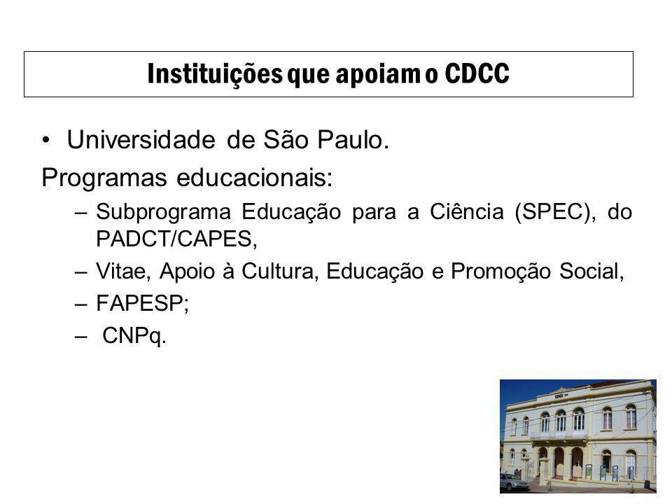 Instituições que apoiam o CDCC