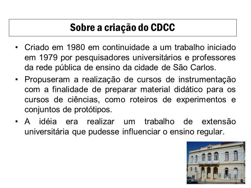 Sobre a criação do CDCC