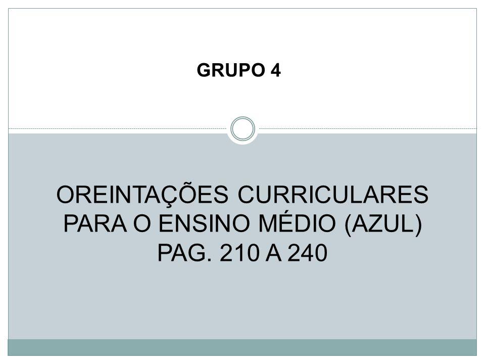 OREINTAÇÕES CURRICULARES PARA O ENSINO MÉDIO (AZUL) PAG. 210 A 240