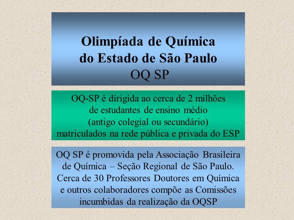 Olimpíada de Química do Estado de São Paulo OQ SP