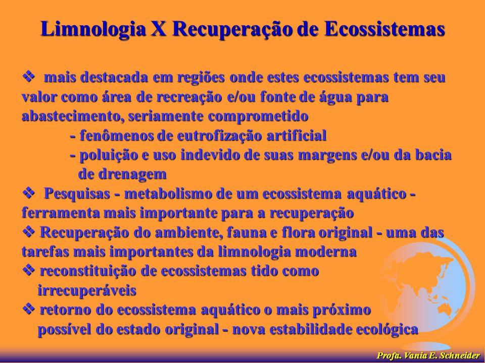 Limnologia X Recuperação de Ecossistemas