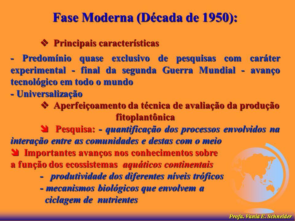 Fase Moderna (Década de 1950):