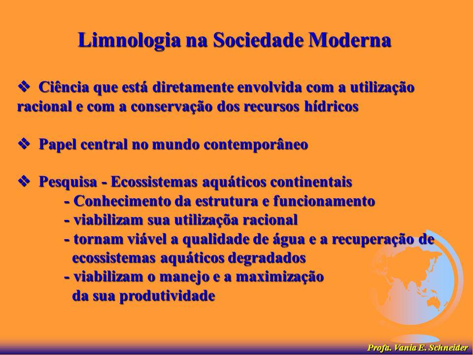 Limnologia na Sociedade Moderna