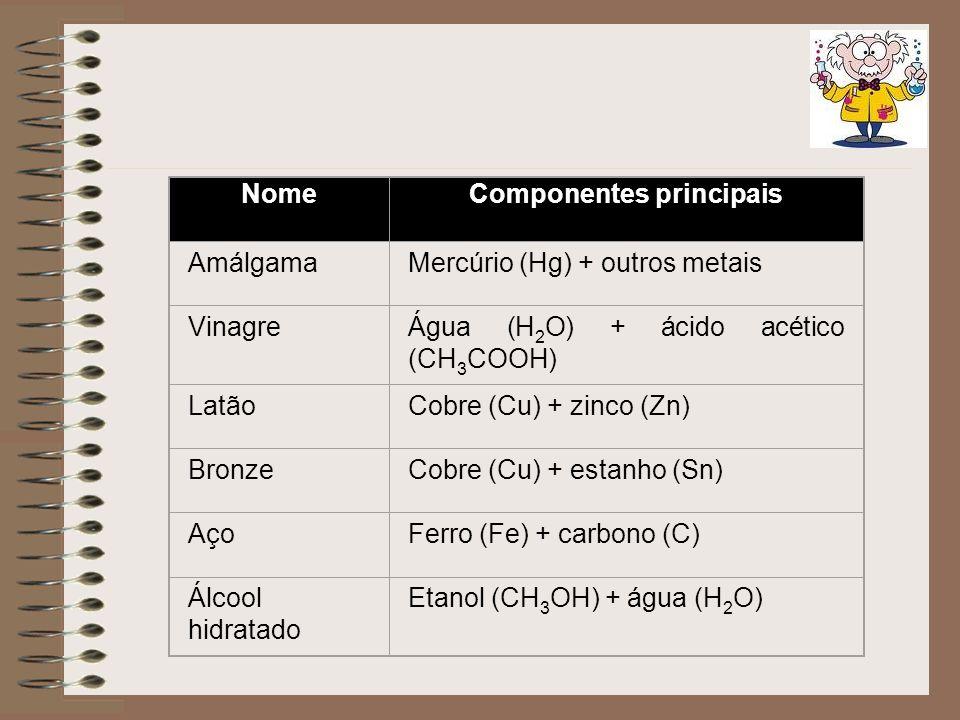 Componentes principais