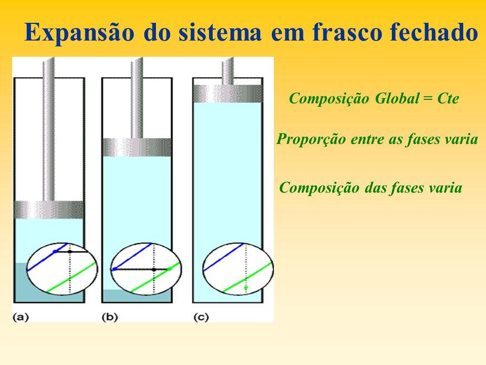 Expansão do sistema em frasco fechado