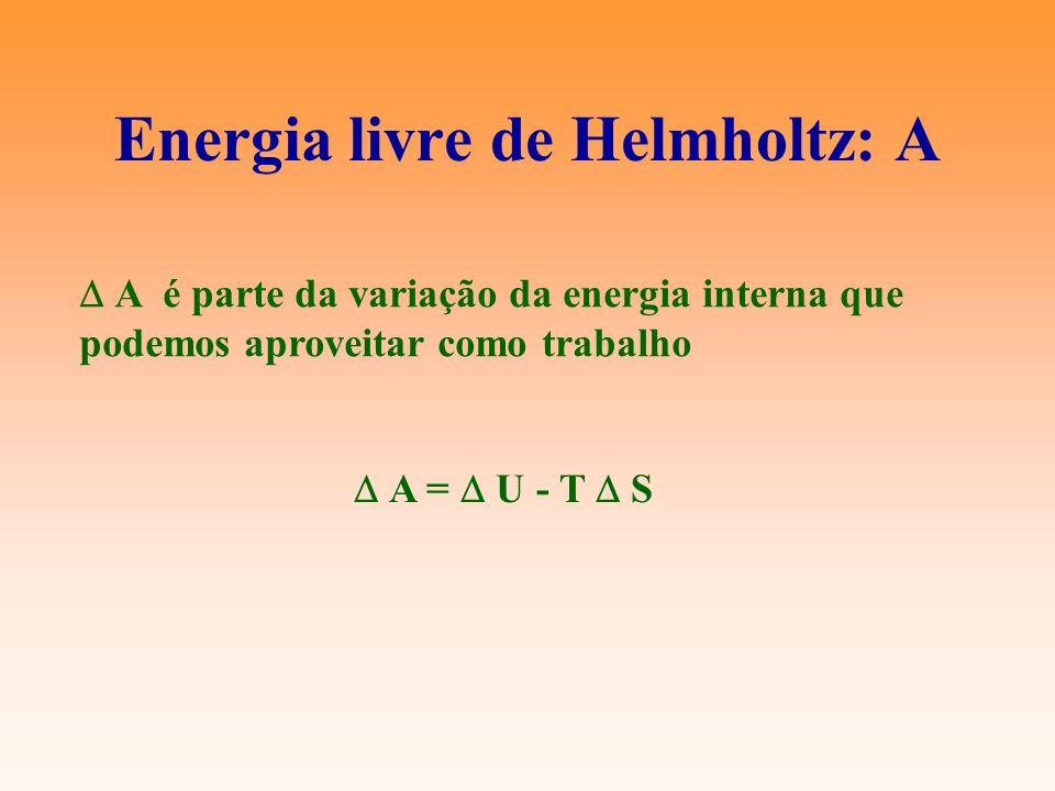 Energia livre de Helmholtz: A