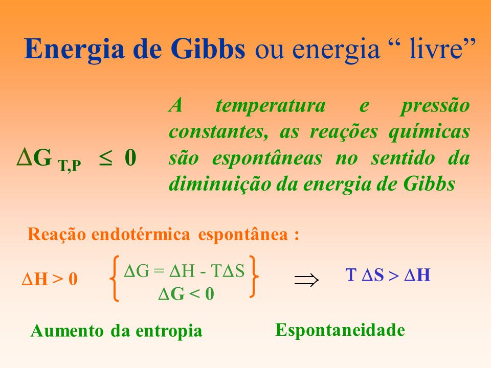 Energia de Gibbs ou energia livre