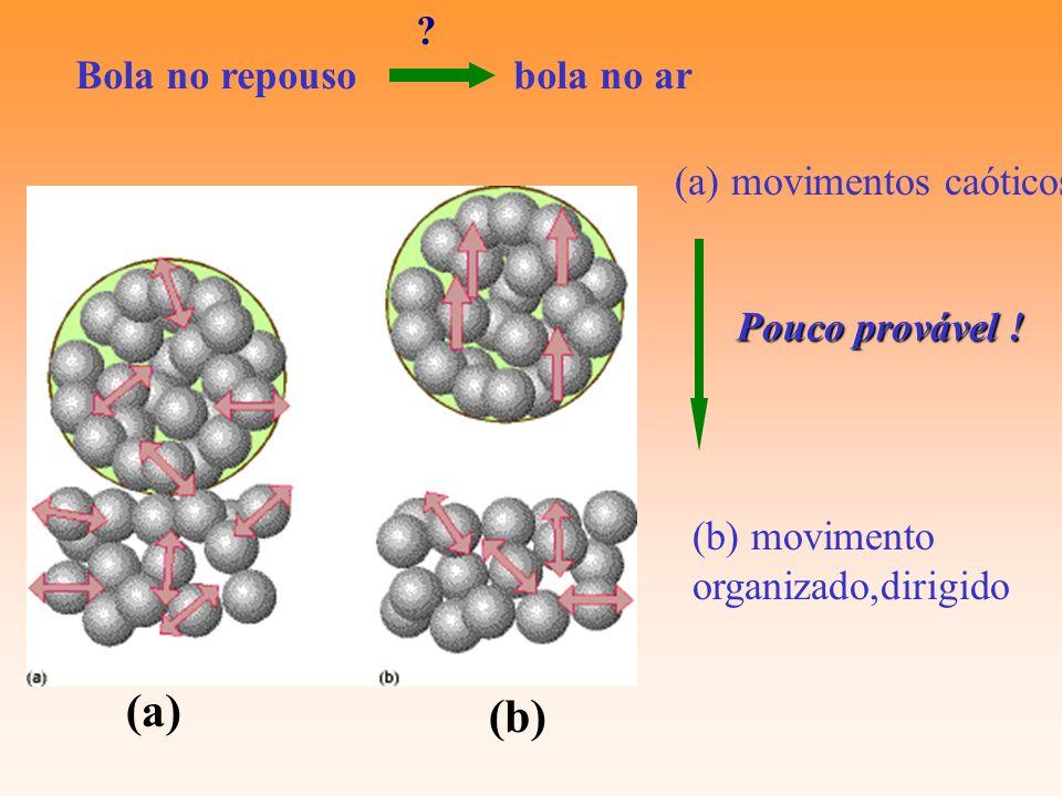 (a) (b) Bola no repouso bola no ar (a) movimentos caóticos