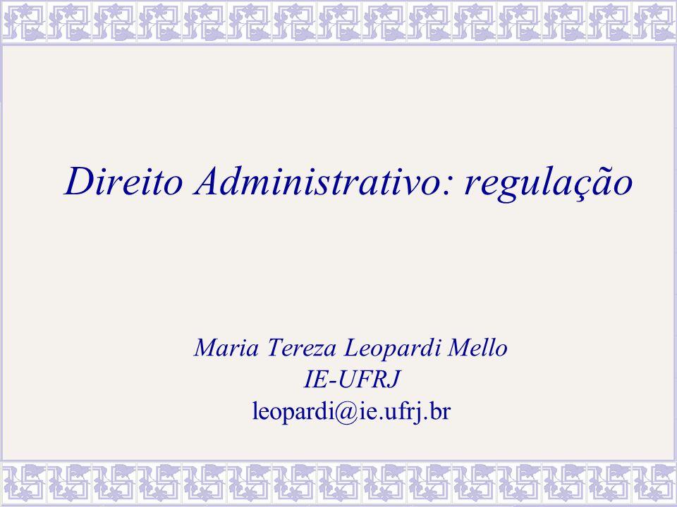 Direito Administrativo: regulação