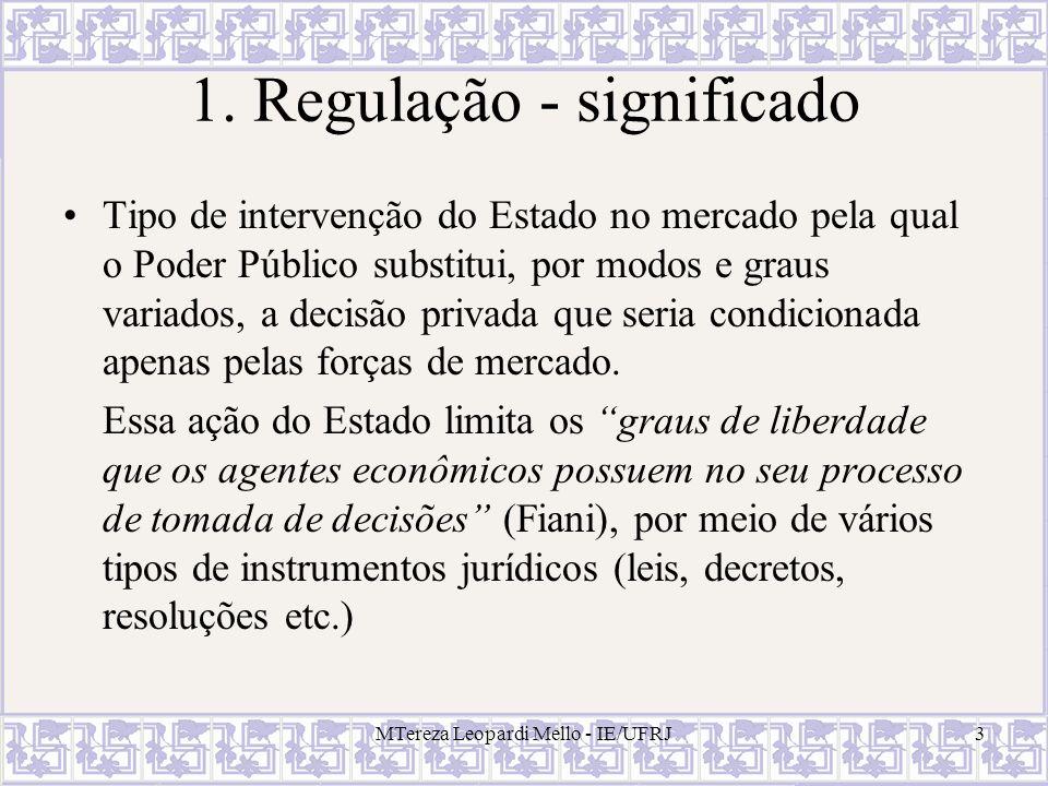 1. Regulação - significado