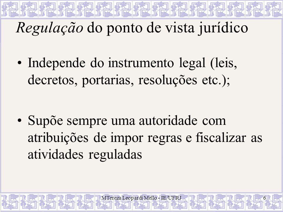 Regulação do ponto de vista jurídico