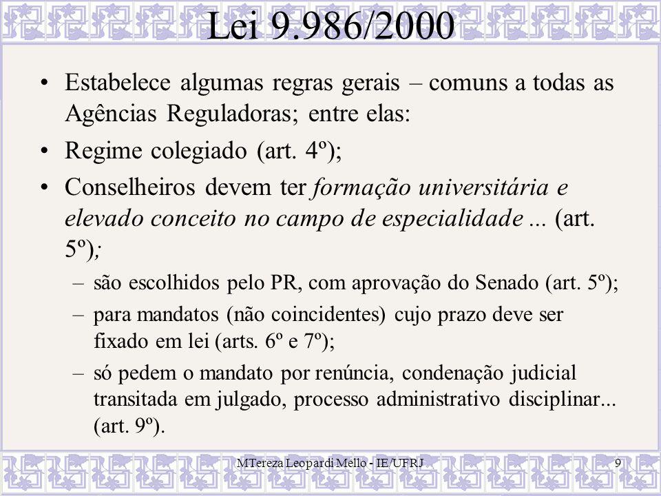 MTereza Leopardi Mello - IE/UFRJ