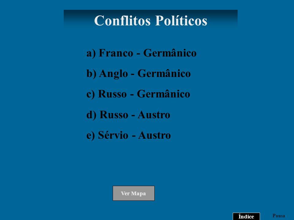 Conflitos Políticos a) Franco - Germânico b) Anglo - Germânico