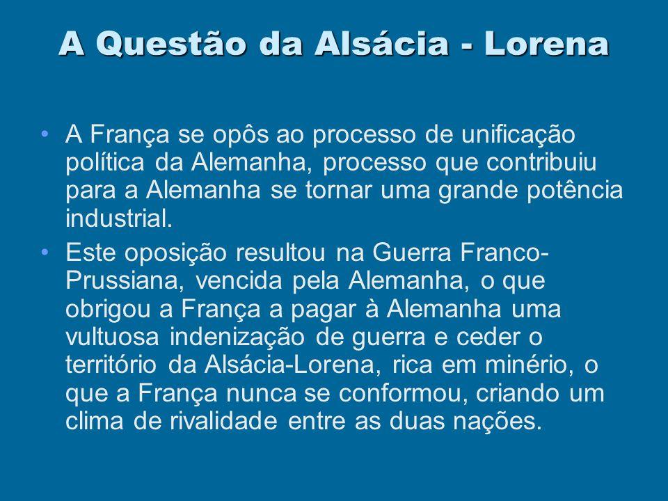 A Questão da Alsácia - Lorena