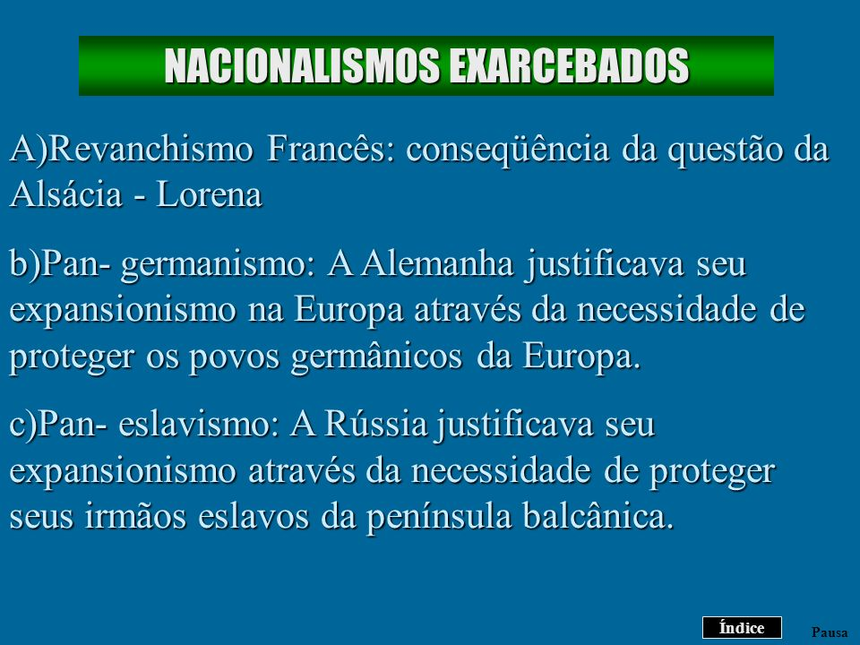 NACIONALISMOS EXARCEBADOS