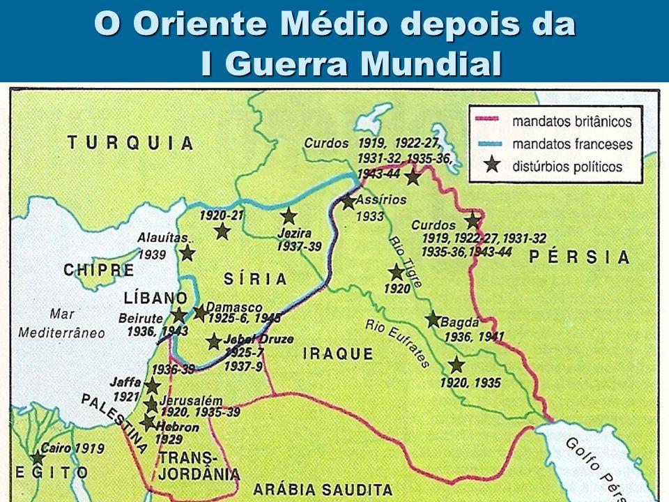 O Oriente Médio depois da I Guerra Mundial