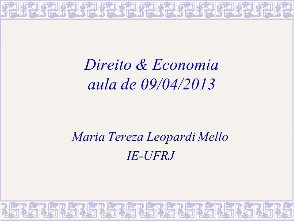 Direito & Economia aula de 09/04/2013