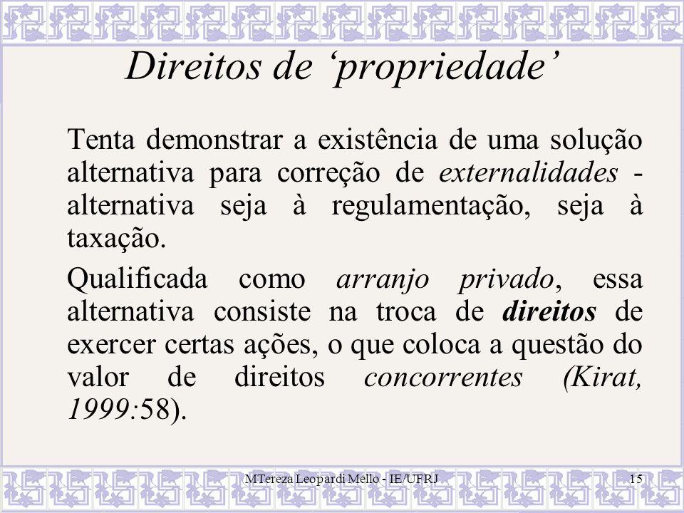 Direitos de 'propriedade'