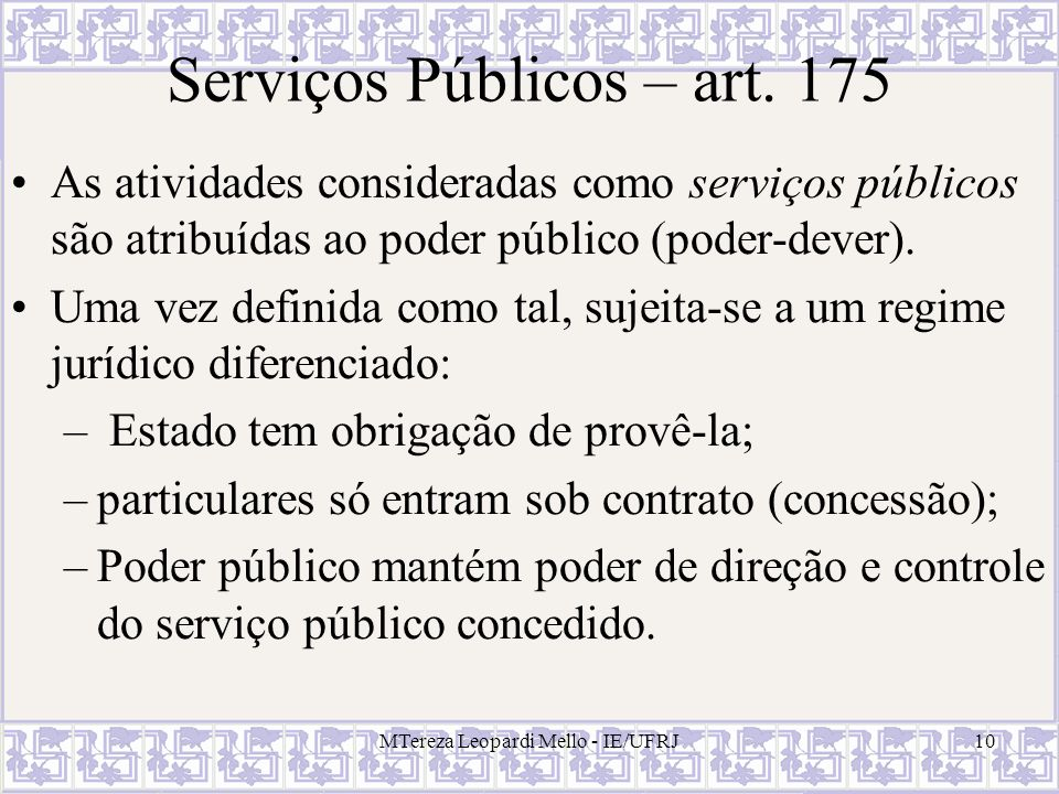 Serviços Públicos – art. 175