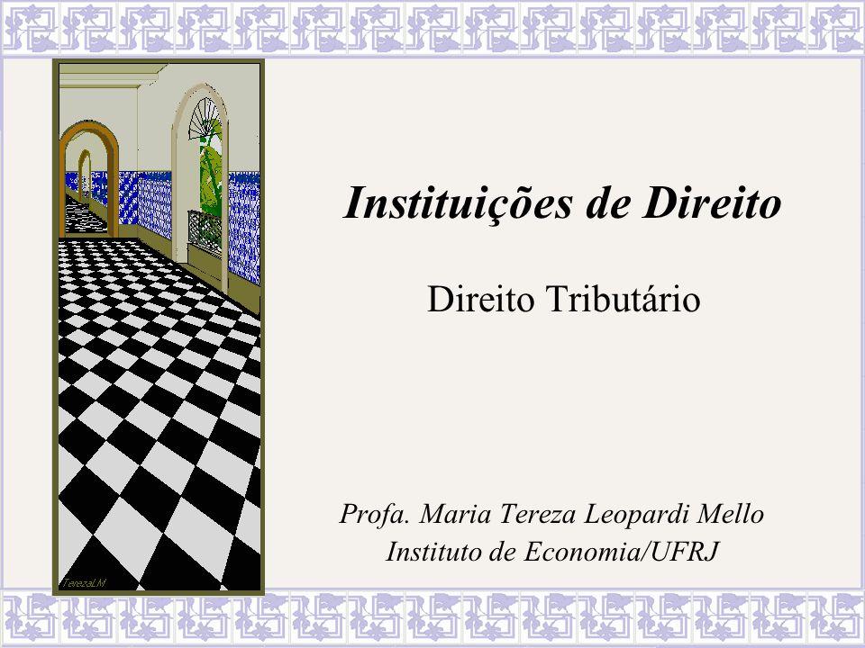Instituições de Direito Direito Tributário