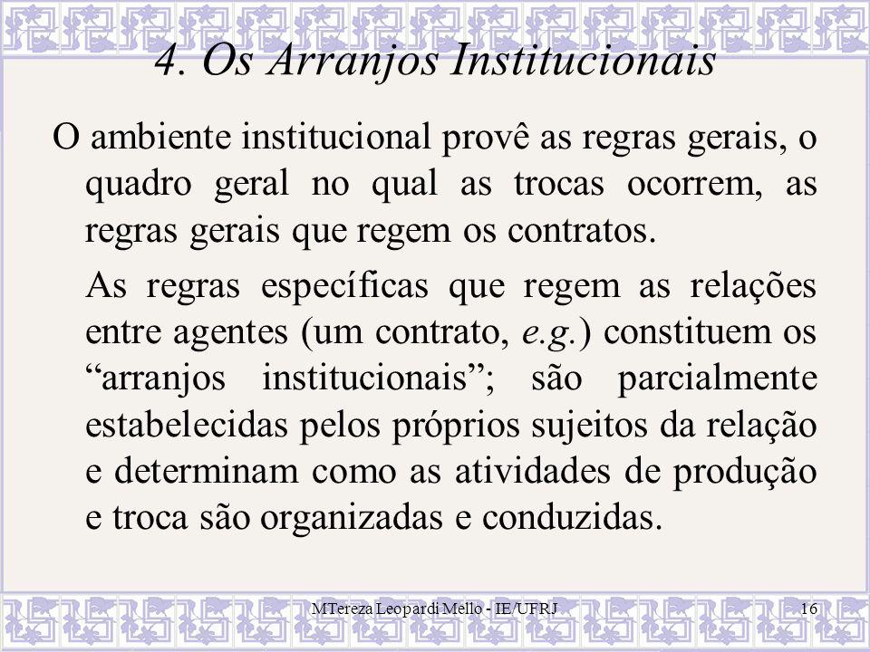 4. Os Arranjos Institucionais