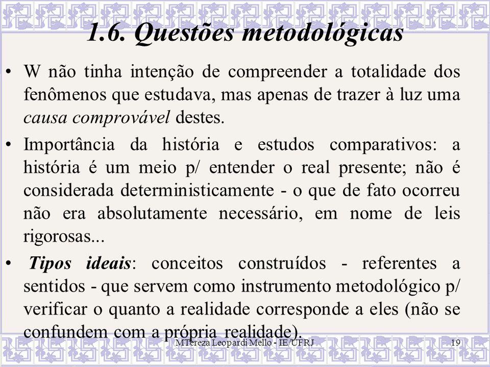 1.6. Questões metodológicas