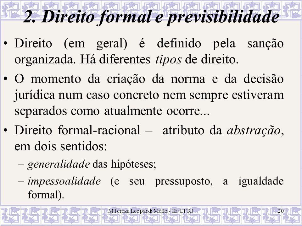 2. Direito formal e previsibilidade