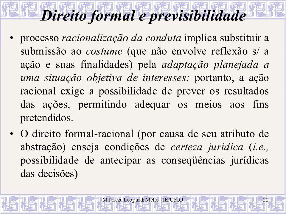 Direito formal e previsibilidade