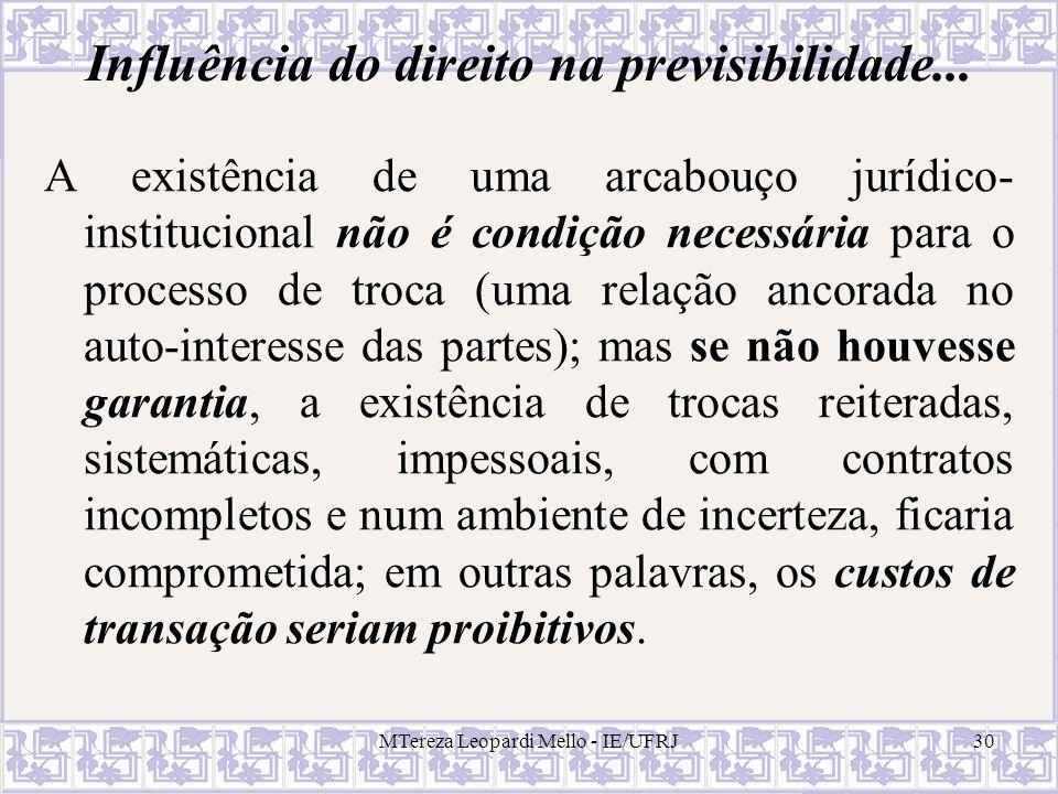 Influência do direito na previsibilidade...