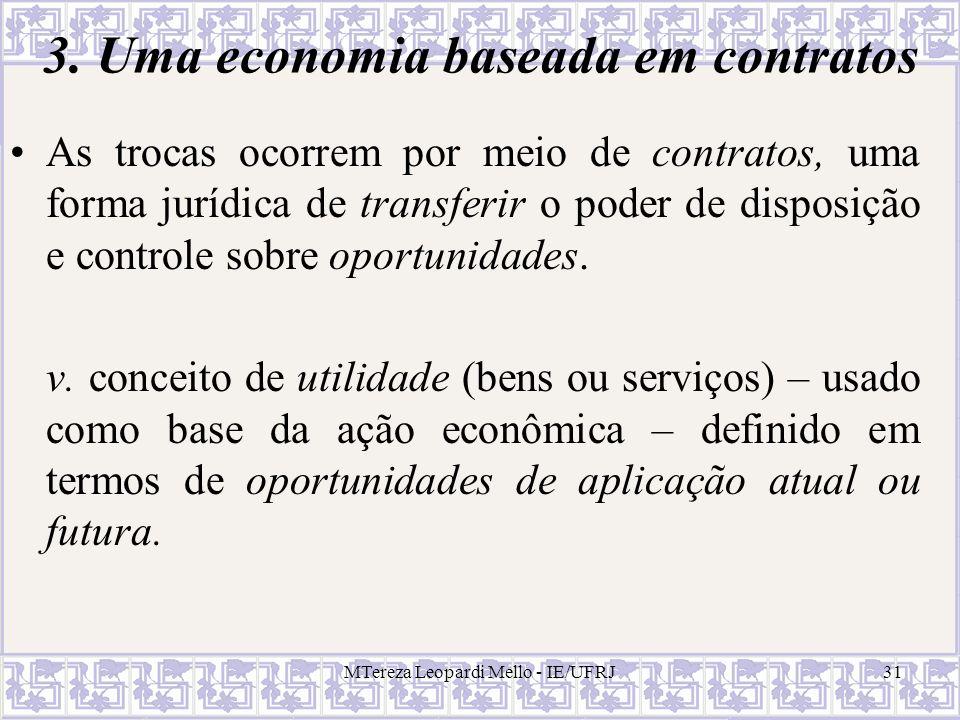 3. Uma economia baseada em contratos