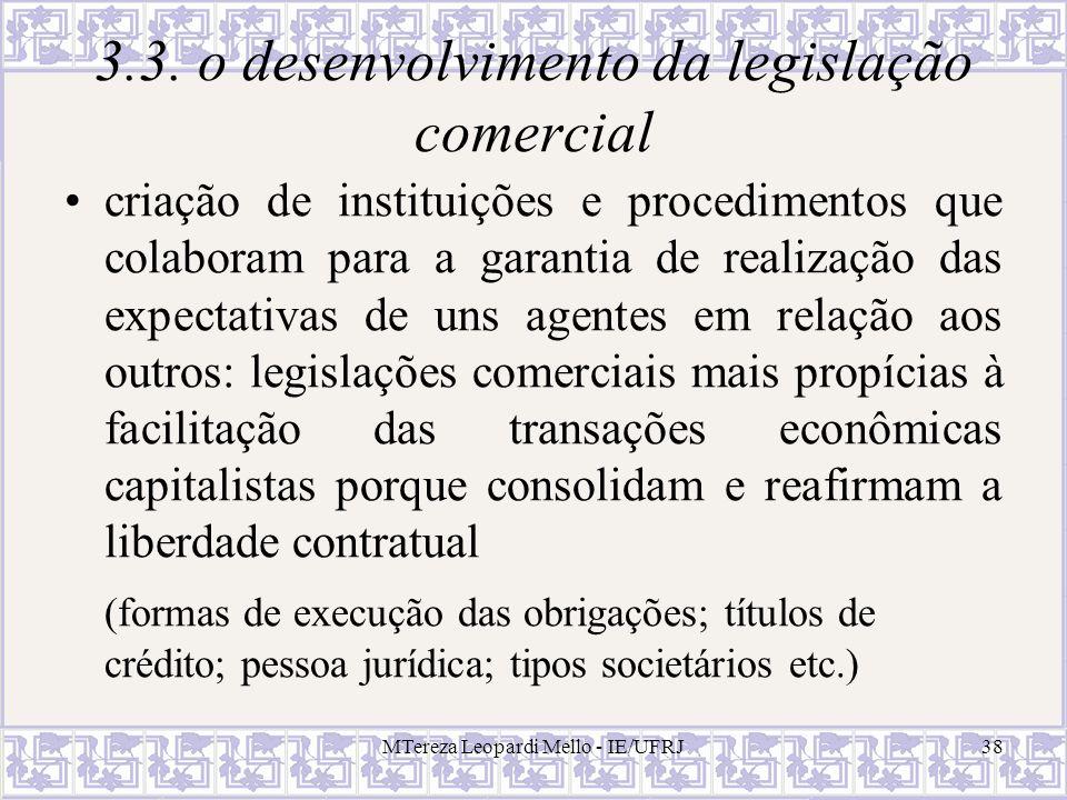3.3. o desenvolvimento da legislação comercial